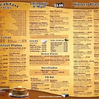 Thousand Oaks Cafe Menu San Antonio Tx