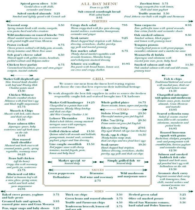 Craft Restaurant London Prices