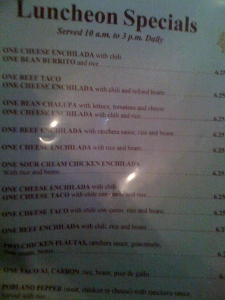 Casa cavazos menu menu for casa cavazos buckner terrace for Terrace on the park menu