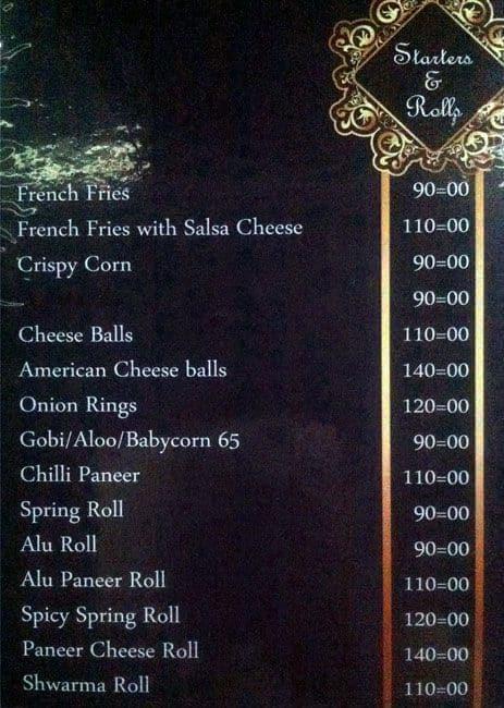 Sky cafe lounge menu menu for sky cafe lounge kacheguda hyderabad sky cafe lounge kacheguda menu stopboris Choice Image