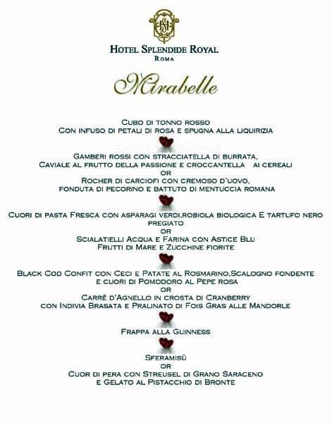 Mirabelle Hotel Splendide Royal Menu Zomato Italy