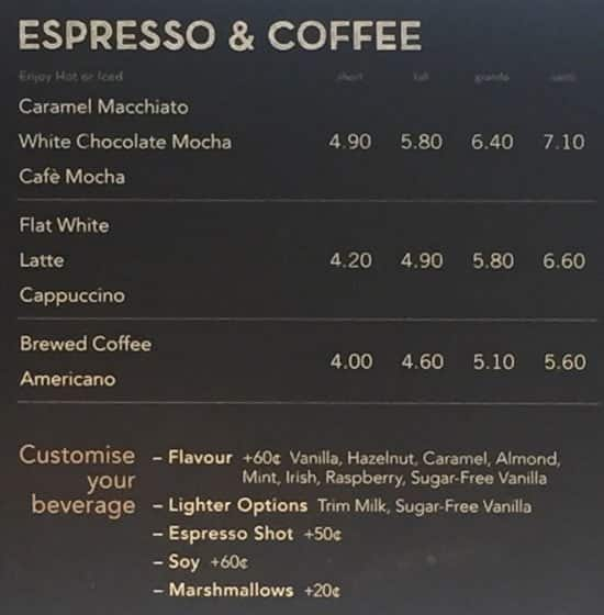 Starbucks Menu Prices and Locations in Lebanon, IN