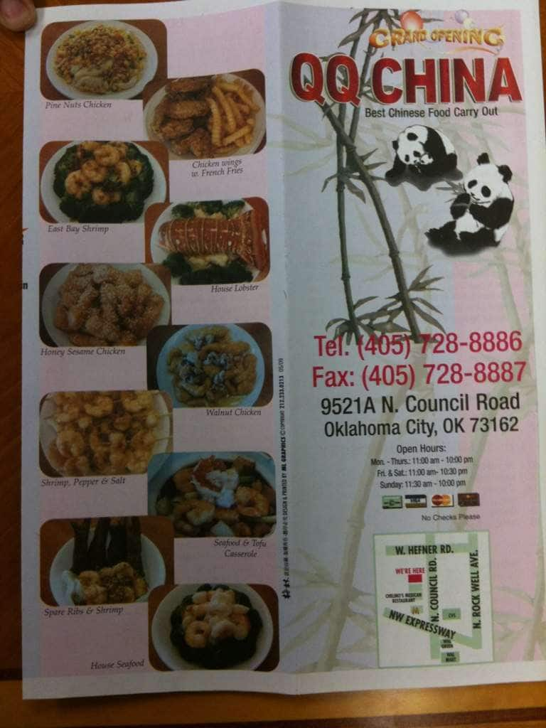 qq china menu menu for qq china suburban northside oklahoma city urbanspoon zomato. Black Bedroom Furniture Sets. Home Design Ideas