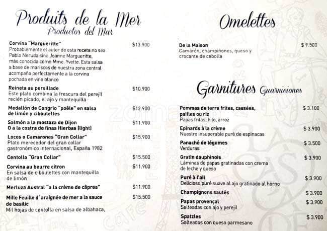 La cascade menu men para la cascade vitacura santiago for Menu tipico frances