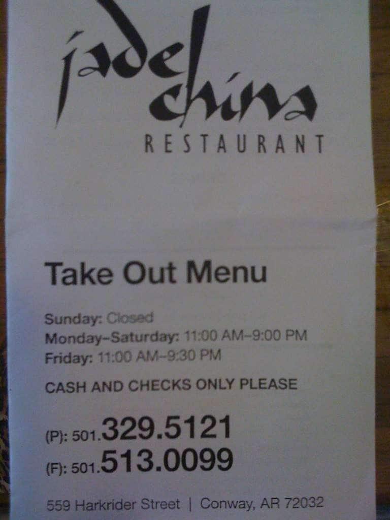 Oriental Kitchen Restaurant Conway Ar Menu