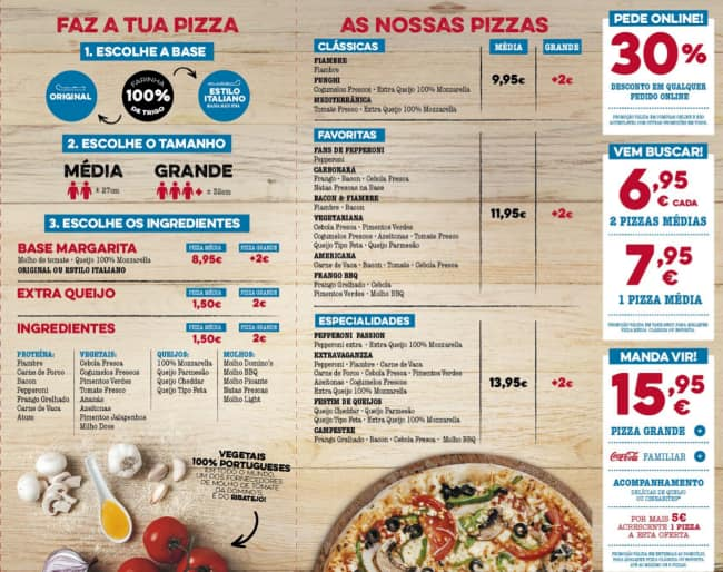 Domino\'s Pizza Menu,Menú para Domino\'s Pizza, Telheiras, Lisboa ...