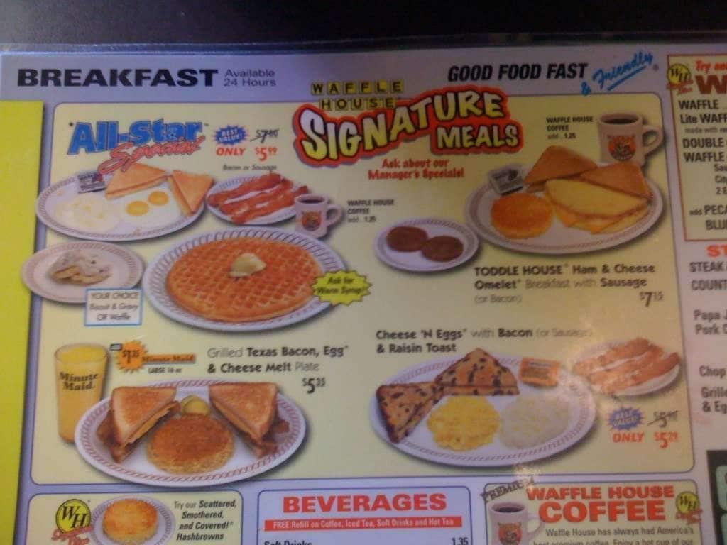 Waffle House Menu, Menu for Waffle House, Franklin, Indianapolis ... | 1024 x 768 jpeg 69kB