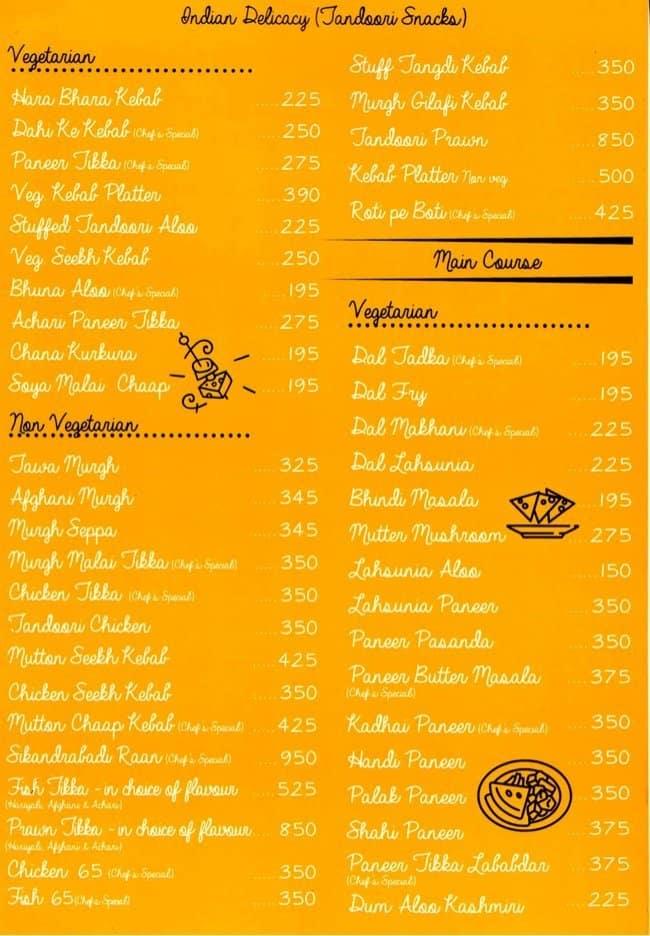 Atmosphere Grill Cafe Sheesha Menu