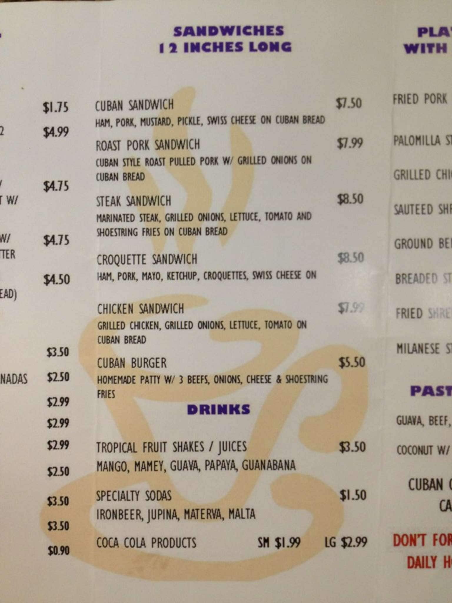 Old House Cafe Menu