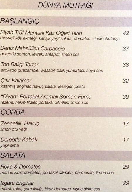 Divan lokanta divan stanbul men zomato t rkiye for Divan menu borehamwood