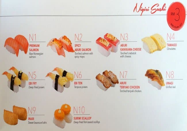 Sushi King Express Menu Menu For Sushi King Express Usj Selangor