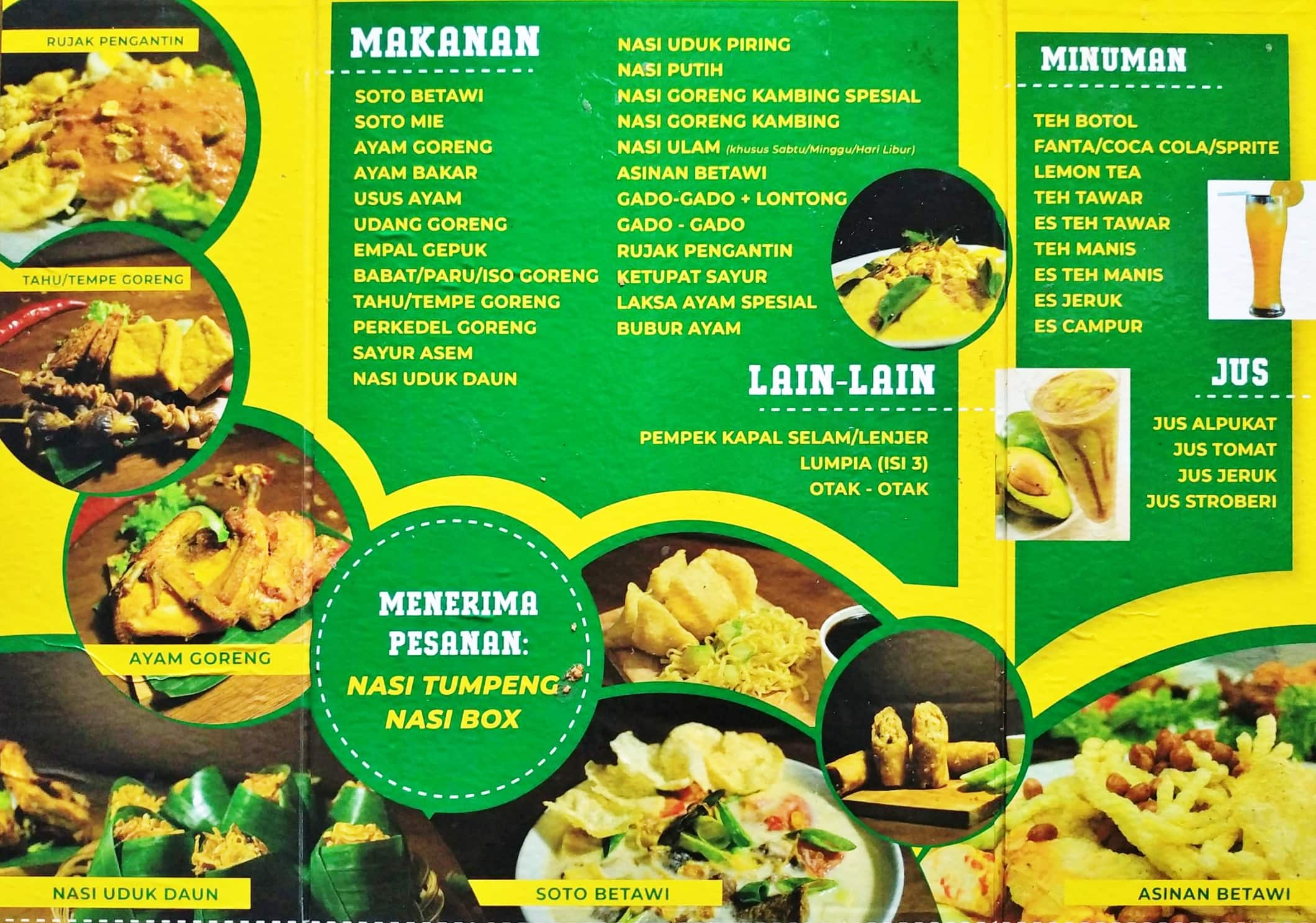 Nasi Uduk Kebon Kacang Ibu Ida Menu Zomato Indonesia