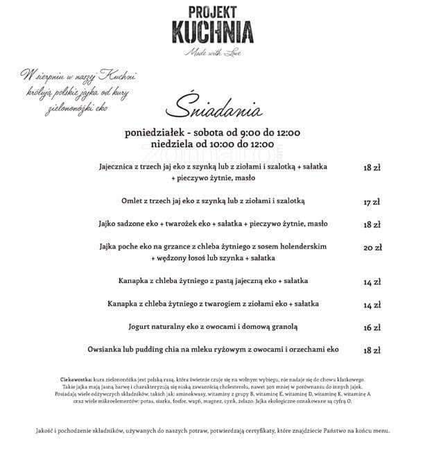 Projekt Kuchnia Menu Menu Restauracji Projekt Kuchnia Stare Miasto