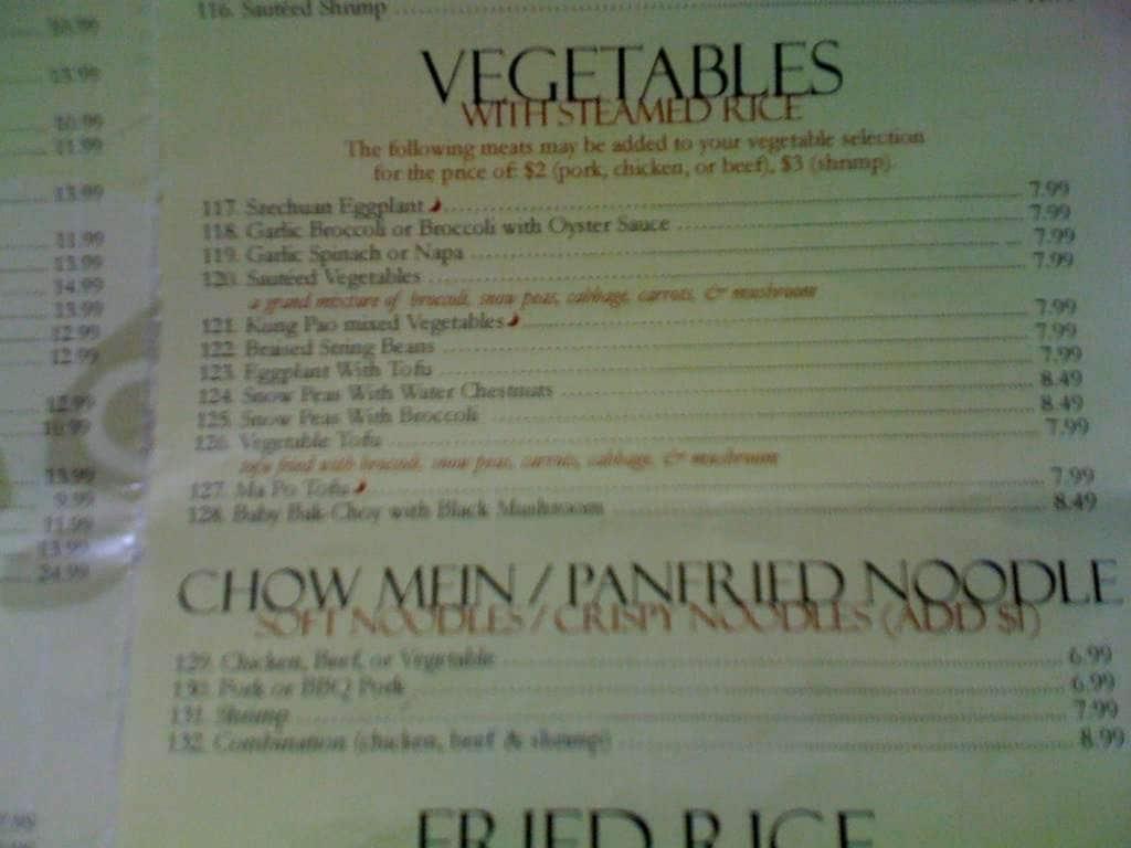 asia kitchen torrance menu - Asia Kitchen Menu