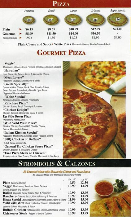 Italian Kitchen Menu, Menu for Italian Kitchen, Lansdowne ...