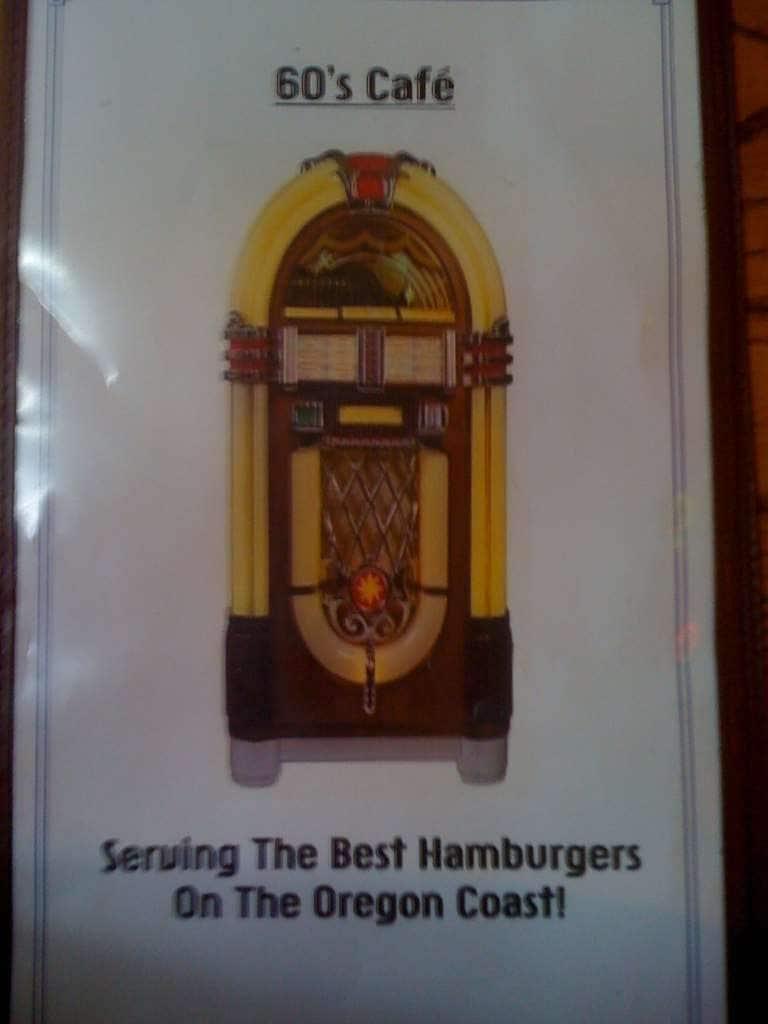 60\'s Cafe Menu, Menu for 60\'s Cafe, Lincoln City, Lincoln City ...