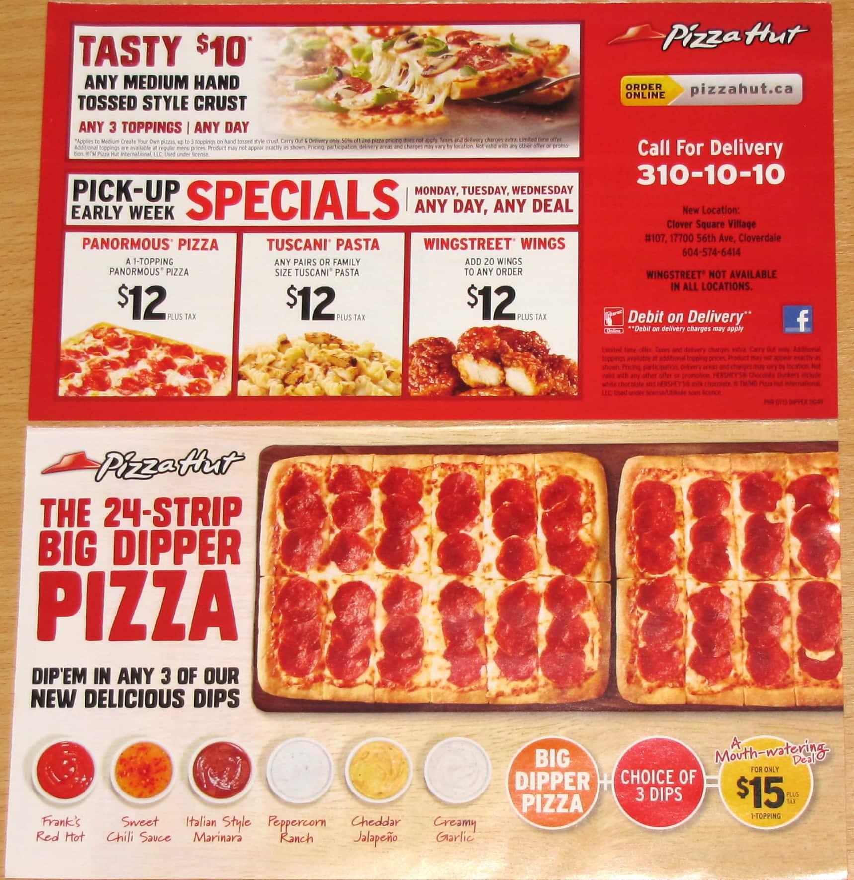 Pizza Hut Menu, Menu for Pizza Hut, Penticton, Penticton ...