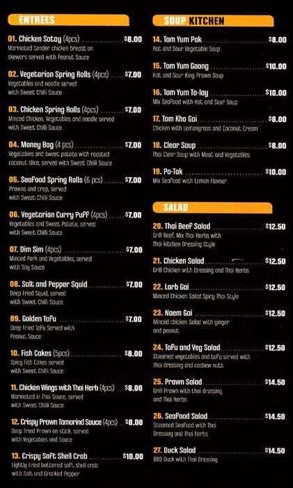 Thai Kitchen Menu Menu For Thai Kitchen Meadowbank Sydney Urbanspoon Zomato
