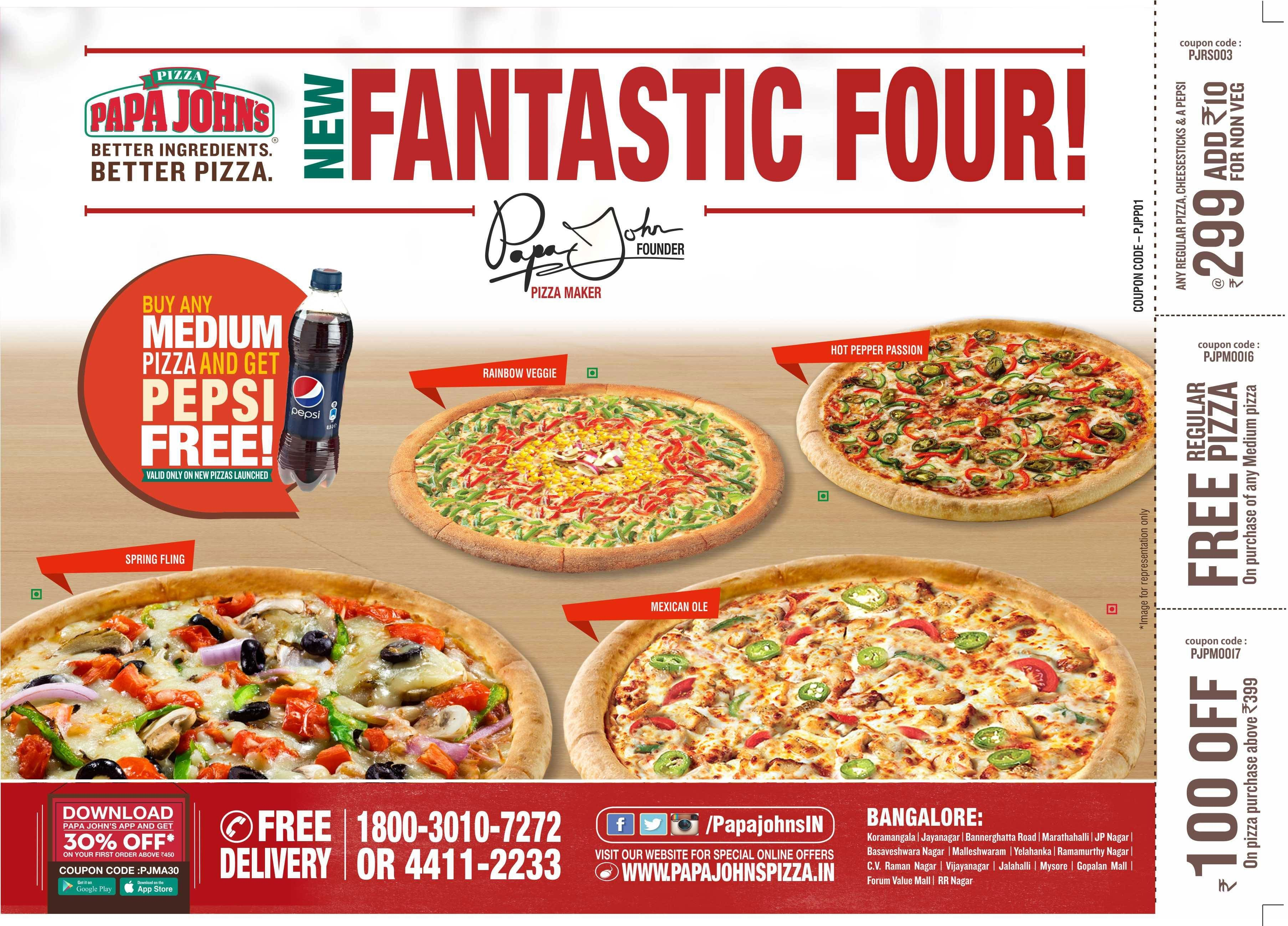 Papa John S Pizza Menu Menu For Papa John S Pizza Powai