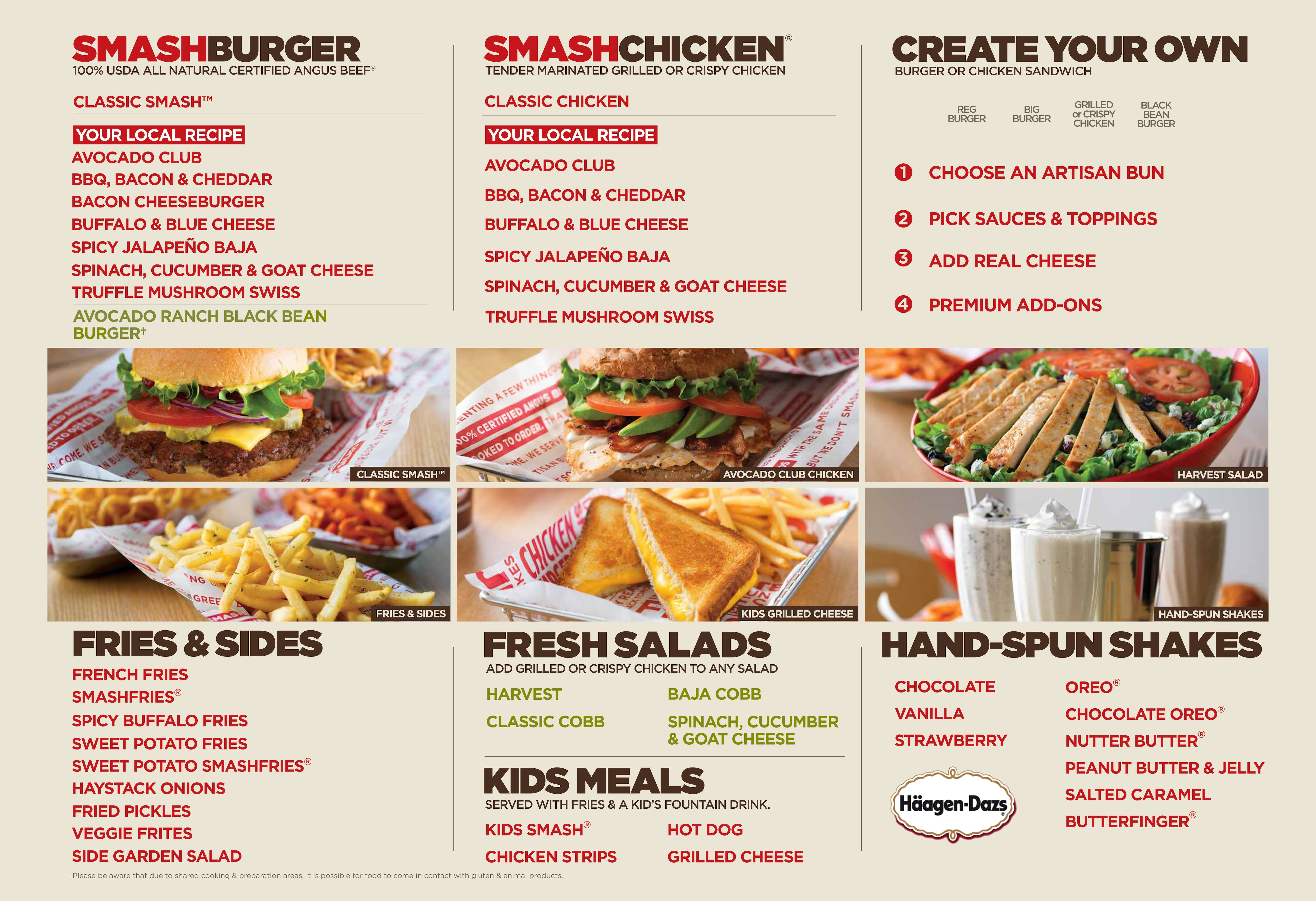 Smashburger Menu Menu For Smashburger Colonial Orlando