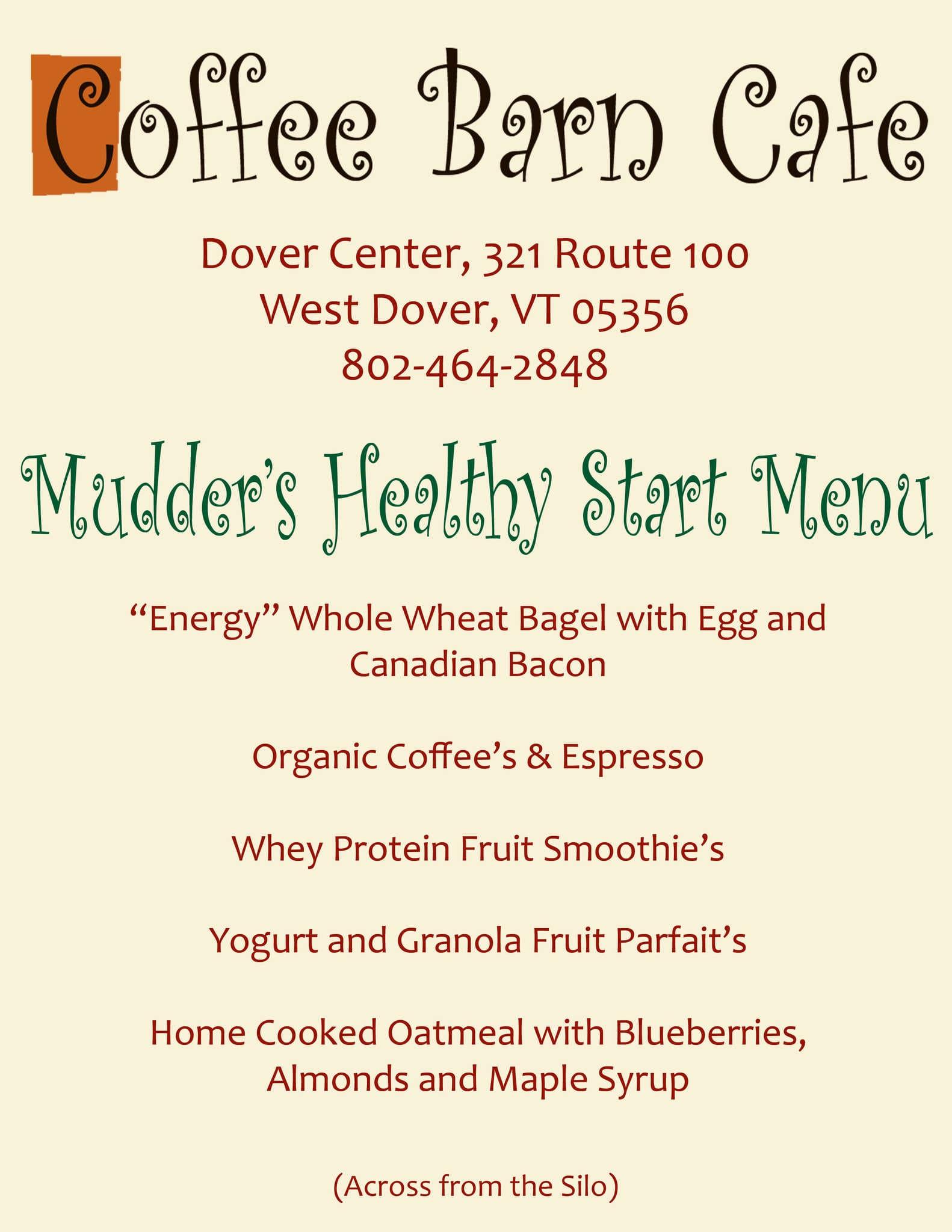 Coffee Barn Cafe Menu Menu For Coffee Barn Cafe Wilmington West
