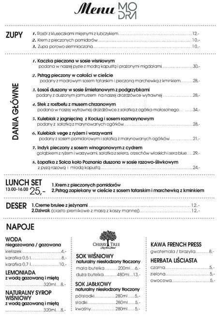 Modra Kuchnia Menu Menu For Modra Kuchnia Jeżyce Poznań