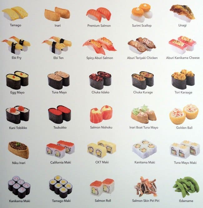 Sushi King Express Menu