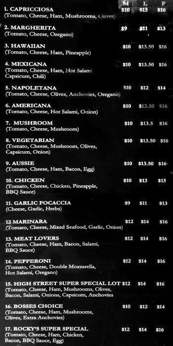 name my pizza shop menu menu for name my pizza shop reservoir