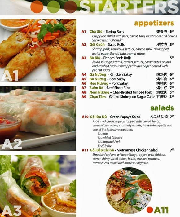Green lemongrass vietnamese cuisine menu urbanspoon zomato - Olive garden spring hill tennessee ...