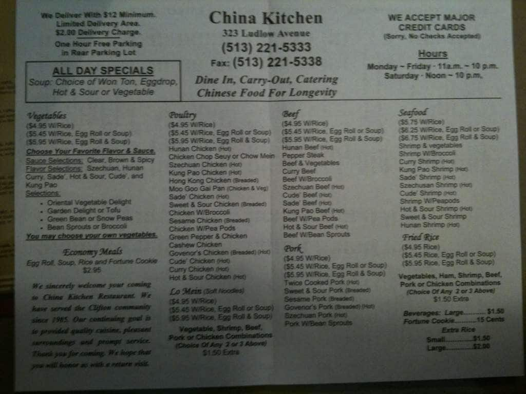 Chinese Food Avondale Cincinnati Ohio