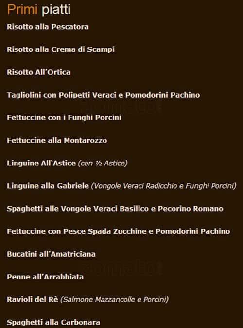 Ar Montarozzo Menu Menu For Ar Montarozzo Appia Antica