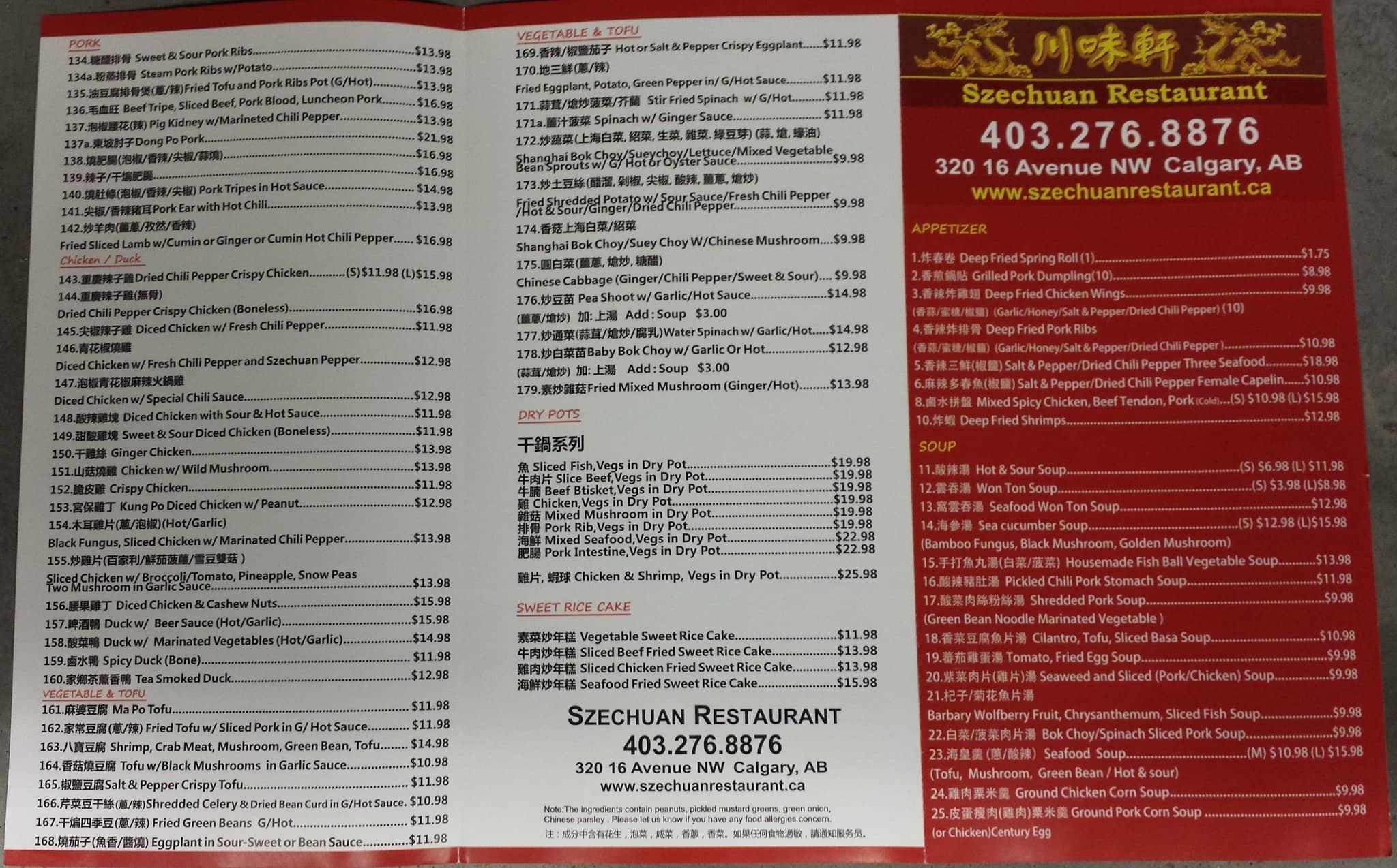 3e5fcc1b43 Szechuan Restaurant Menu