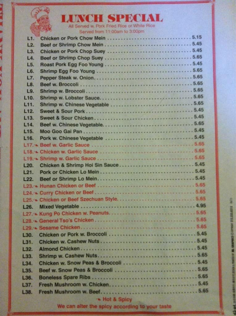 Online menu of chinatown kitchen restaurant bradley beach for Kitchen 919 knoxville tn menu