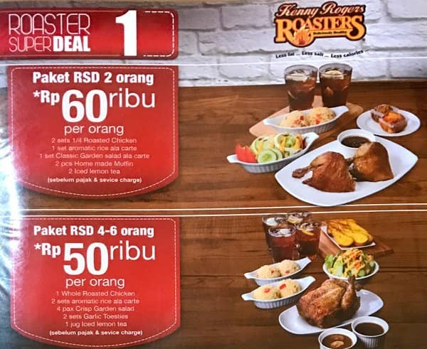 Kenny Rogers Restaurant Menu Indonesia