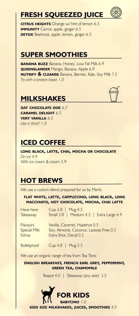 cafe noma menu menu for cafe noma wavell heights