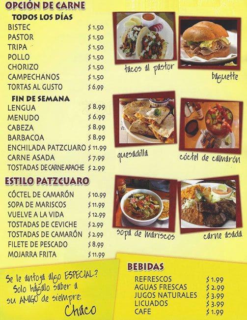 tacos chaco 2 menu menu for tacos chaco 2 far north dallas dallas