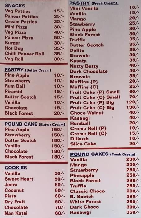 Cakes And Bakes Menu , Delicious Cake Recipe