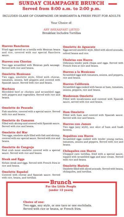 Marietas Fine Mexican Food Cocktails Menu Urbanspoonzomato