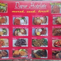Dapur Hotplate Serpong Menu
