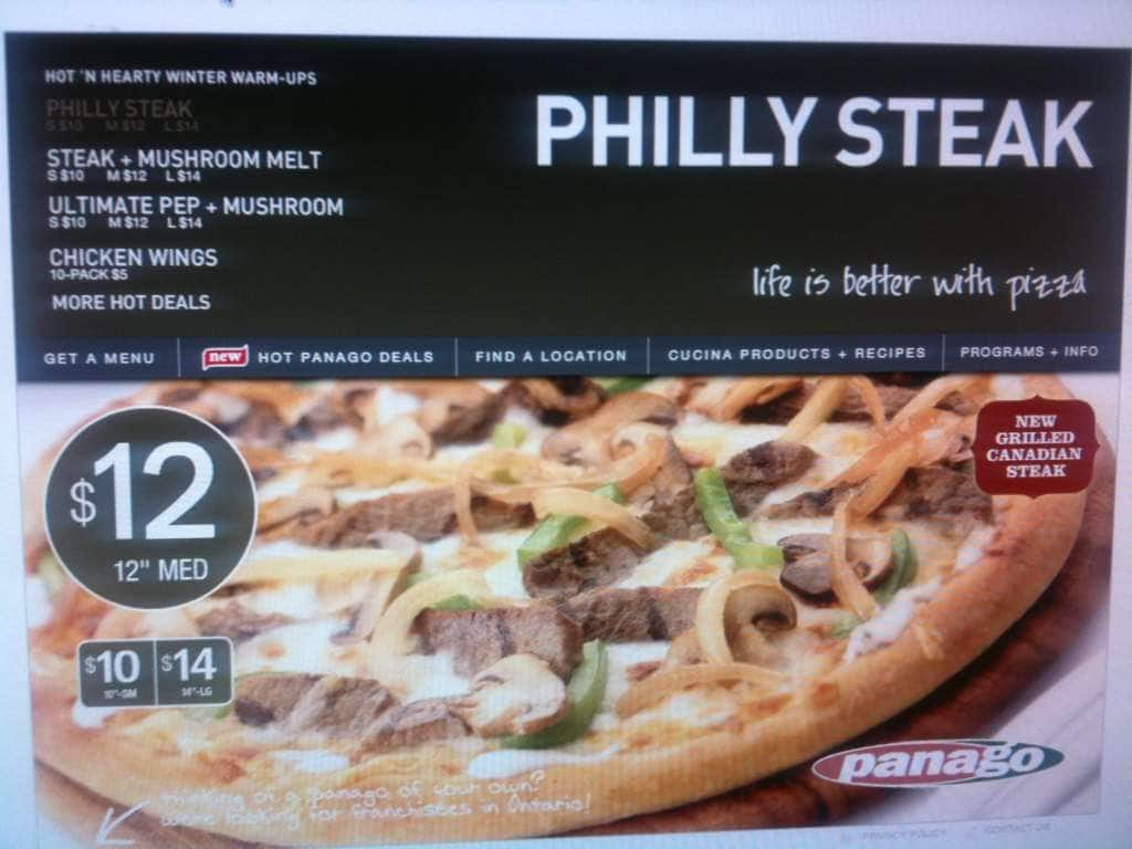 Panago Pizza Menu For Victoria City Of