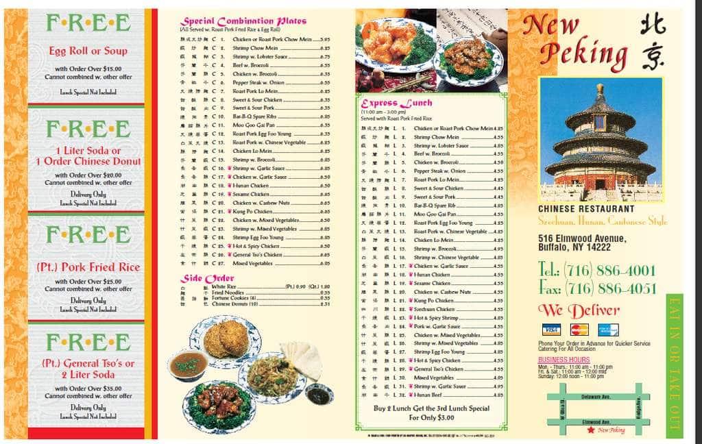 New Peking Chinese Restaurant, Elmwood, Buffalo - Urbanspoon/Zomato