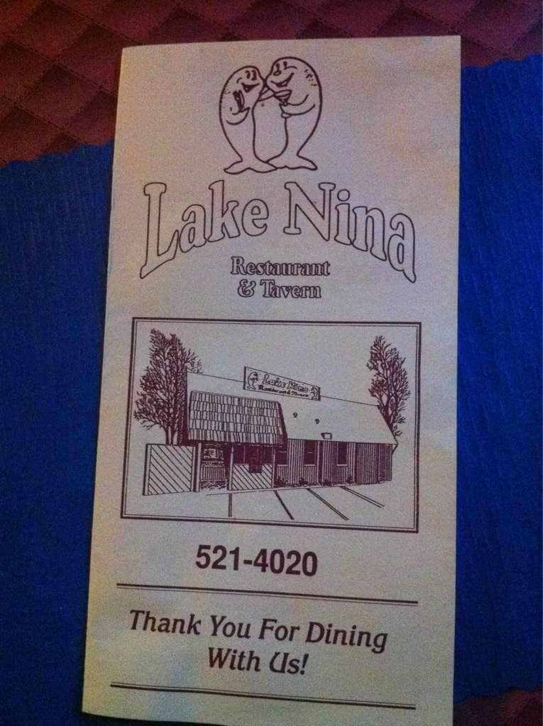 Lake Nina Restaurant And Tavern Colerain Township Menu