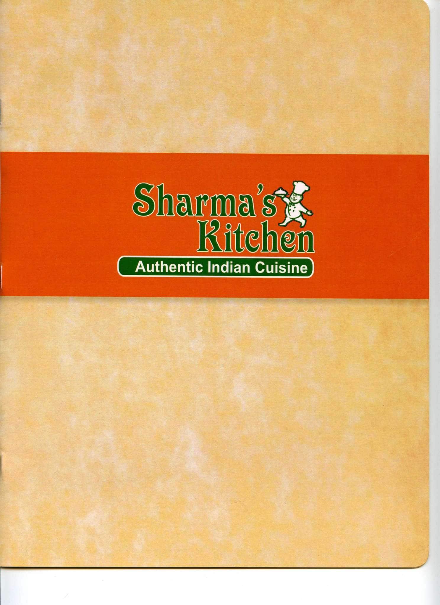 Sharma's Kitchen Menu, Menu for Sharma