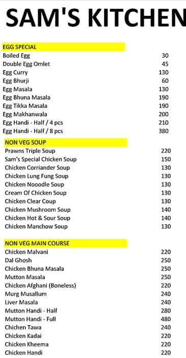 Sams Kitchen Menu Menu For Sams Kitchen Kasarvadavli Thane West Thane