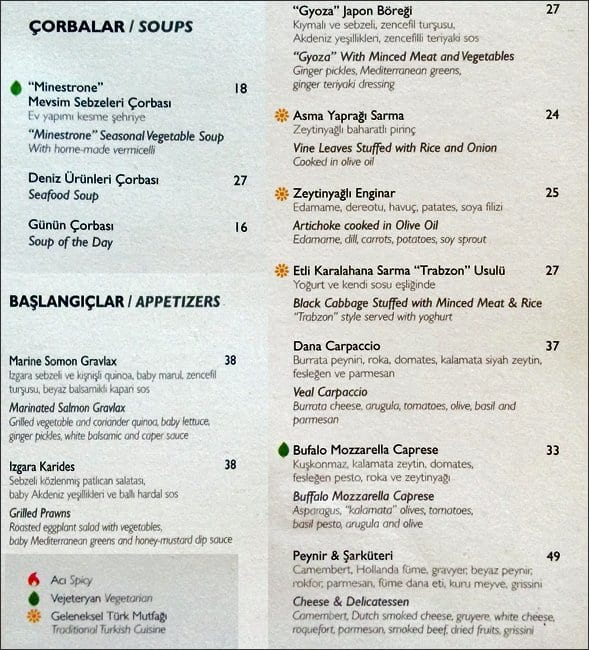 İstanbul Modern Cafe & Restaurant Menu - Zomato Turkey