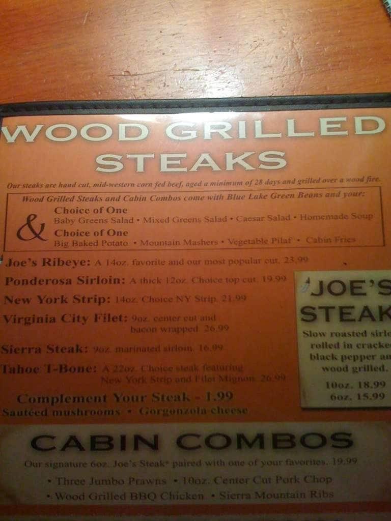 Tahoe Joe S Restaurant Roseville California