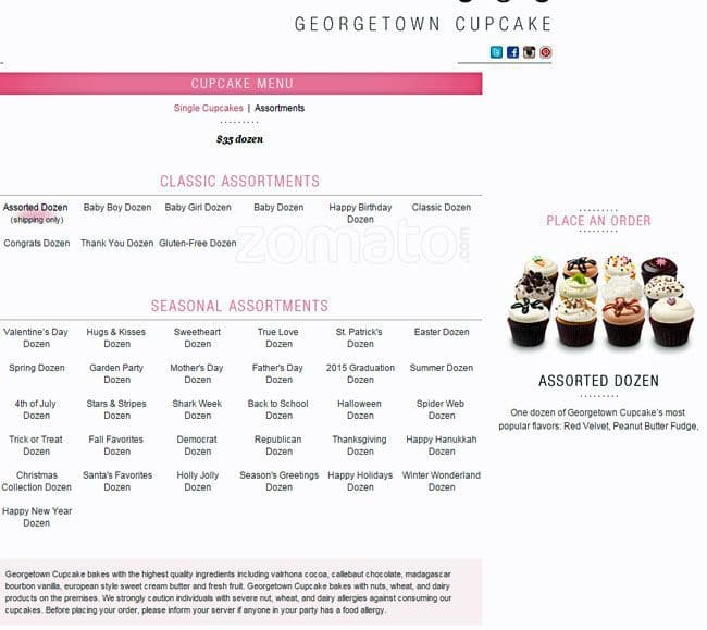 dc cupcakes website