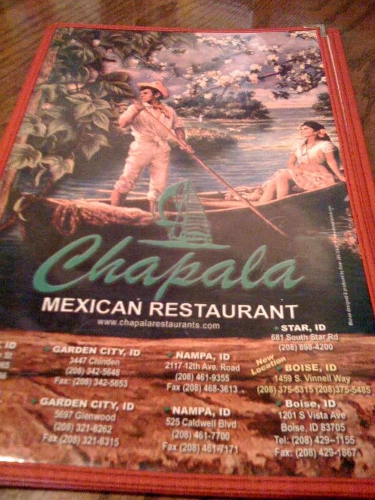 Chapala Mexican Restaurant Nampa Menu