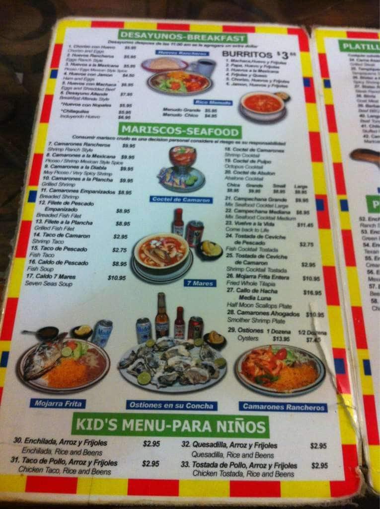 Allende Restaurant Menu Indio Ca