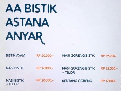 c8994d803e11e AA Bistik Astana Anyar Menu, Menu v reštaurácii AA Bistik Astana ...